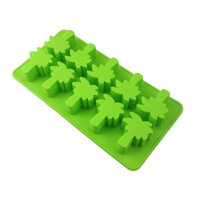 12-Hole Food Grade Silicone Ice Cube Mold Whisky Ice Tray with Lid Square-shape DIY Ice Mold