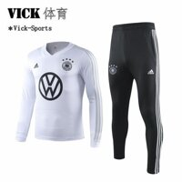 19/20 Top Quality A Set Jersey Germany team Long Sleeve Jersei Football Training Suit Training Wear shirt and Trousers Pants Suit