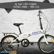 Xe dap gap 20 inch Fornix FB2007-PRA14 (Trang)