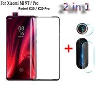 2 Trong 1 Bảo Vệ Đầy Đủ Tấm Kính Bảo Vệ Màn Hình Cho Xiaomi Redmi K20 Mi 9T Pro Camera Sau Ống Kính Cường Lực kính Cường Lực Redmi K20 Pro