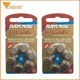 2 vỉ Pin máy trợ thính Rayovac PR44 Pin 675 / Pin AG13 ( vỉ 6 viên )
