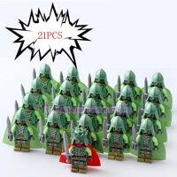 21 Cái/lốc Game Of Thrones Kingsguard Legoed Quân Minifigured Playmobil Thời Trung Cổ Hiệp Sĩ Binh Sĩ Quân Đội Khối Xây Dựng Đồ Chơi