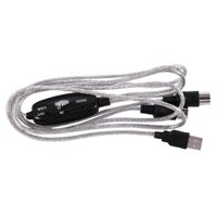 2M USB MIDI Cable Converter PC to Music Keyboard Adapter Supports Windows XP Vista and Mac OS X operating systems