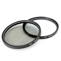2Pcs 67MM UV Lens Filter And Polarizing CPL Filter Kit For Nikon Canon