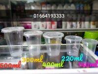 50 cốc nhựa dùng 1 lần kèm nắp