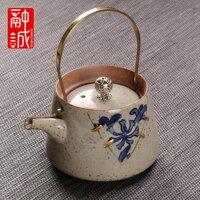 5RC Giả Cổ Ấm Trà Ấm Có Quai Xách Gốm Phục Cổ Sản Xuất Đồ Gia Dụng Đồng Đưa Ấm Đơn Ấm Đun Trà Phong Cách Nhật Bản Trà Kungfu