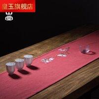 5RST Và May Mắn Trà Vải Lanh Chiếu Trúc Vải Nghệ Thuật Runner Khăn Lau Dụng Cụ Uống Trà Thêu Hoa Bông Vải Kung Fu Dụng Cụ Pha Trà Phụ Kiện