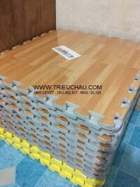 60*60*4 tấm - Thảm xốp trải sàn vân gỗ Âu Lạc