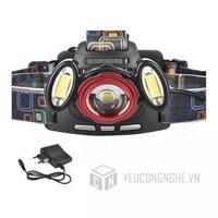 Đèn led đội đầu 3 đèn Headlight T6x2XPE giá rẻ