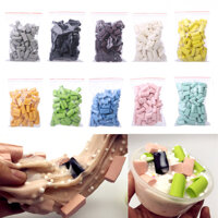 70Pcs/Bag DIY Slime Stuff Sponge Mud Foam Strip Block Additives Filling Fluffy Clay Supplies Accessories