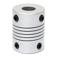 8mm x  8mm Aluminum Flexible Shaft Coupling OD19mm x L25mm CNC Stepper Motor Coupler Connector