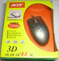 Acer PS/2 3D Wheel Ball Mouse