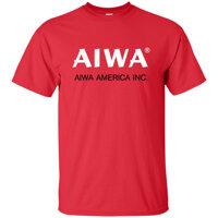 AiWa Logo Retro Điện Tử Âm Thanh Điện Tử Tạo Thành Dàn Âm Thanh Áo