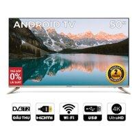 Android SMART TV 4K UHD Coocaa 50 inch Wifi tivi- viền mỏng - Model 50S5G Vàng