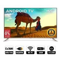 Android SMART TV 4K UHD Coocaa 55 inch Wifi - viền mỏng - Model 55S5G Vàng