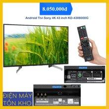 Tivi Smart Sony KD-43X8000G - 43 inch, 4K