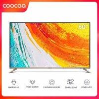 Android TV 4K UHD Coocaa 50 inch Wifi tivi- viền mỏng - Model 50S5G (Vàng) - Chân viền kim loại