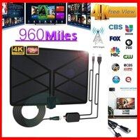 Ăng ten TV kĩ thuật số khuếch đại trong nhà khoảng cách 960 Mile với màn hình 4K HD1080P