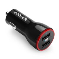 Anker PowerDrive 2 (24 W / 4.8 Mot bo sac xe USB 2 cong) iPhone, Android, IQOS tuong thich (mau den)