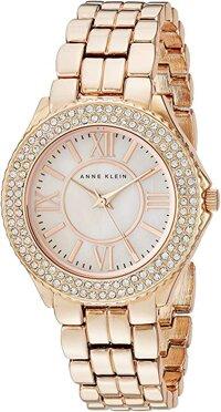 0acf4119c7735 Anne Klein Women s AK 1462RMRG Swarovski Crystal Accented Rose Gold-Tone Bracelet  Watch ...