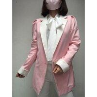 Áo khoác blazer hồng xịn HK