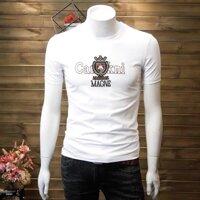 Áo thun nam ngắn tay màu trắng in thú thời trang phong cách trẻ trung CANDY FASHION [bonus]