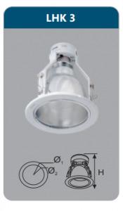 Đèn downlight âm trần Duhal có kiếng LHK3