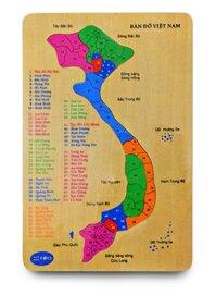 Bản đồ Việt Nam tranh ghép hình