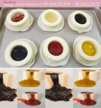 Bánh pudding lava mát lạnh với nhân tan chảy - Bánh ngon đẹp