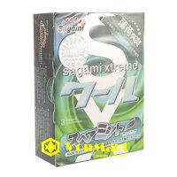 Bao cao su Sagami Spearmint 3 cái, hương bạc hà mát lạnh, kích thích cuộc yêu khi quan hệ, hộp 3