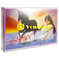 Bao cao su Simplex Ngựa Hoang 12 chiếc, gân gai kích thích khoái cảm Nữ, kéo dài thời gian quan hệ Nam