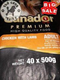 Bao Ganador Adult - Thức ăn hạt khô cho chó trưởng thành trên 10 tháng tuổi 20kg/50 gói. Sản phẩm của Pháp - Family pets