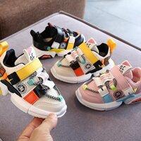 Bbabyme Mới Thể Thao Trẻ Em Giày Trẻ Em Bé Trai Giày Mùa Xuân Mùa Thu Lưới Thoáng Khí Bé Gái Giày Giày Chạy Bộ Cho Trẻ Em