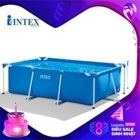 Bể bơi khung kim loại chữ nhật INTEX 28272 - INTEX Việt Nam - Hồ bơi cho bé mini Bể bơi phao trẻ em LazadaMall