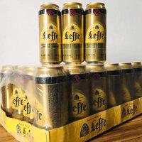 Bia leffe vàng lon 500ml Bỉ x 24 lon với nồng độ 6,6%vol được nhập khẩu từ Bỉ 330ml x 24lon