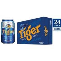 Bia TIGER thùng 24 lon × 330ml date mới