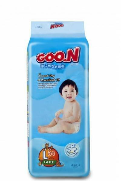 Tã dán Goo.n size L 34 miếng (trẻ từ 9 - 14kg)