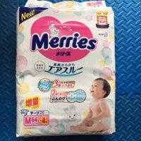 Bỉm Merries size M 64 miếng