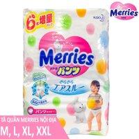 Bỉm - Tã Quần Merries Nội Địa Size M58/L44/XL38/XXL26