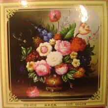 Tranh thêu chữ thập-bình hoa-CYH9550