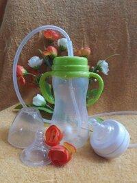 Bình sữa rảnh tay có ống hút cho bé 300ml