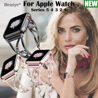 Bling Band Tương thích với for Apple Watch series 5 4 Band 40mm 44mm Kim cương bằng thép không gỉ thay thế kim loại Dây đeo cổ tay iWatch Series 5 4 3 2 1 42mm 38mm Vòng đeo tay 44mm Thay dây đeo [bonus]