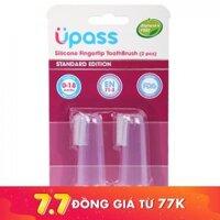 Bộ 2 chiếc bàn chải đánh răng xỏ ngón silicone Upass UP4002C (từ 0 - 18 tháng tuổi)