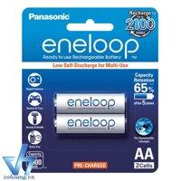 Bộ 2 pin sạc AA Panasonic Eneloop 2000mAh (Trắng)