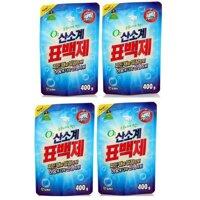 Bộ 4 Gói bột giặt phụ trợ tẩy vết bẩn khử khuẩn quần áo Hàn Quốc 400g