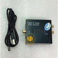 Bộ chuyển đổi âm thanh từ Optical sang Analog KIWI KA-01 (Tặng dây optical và dây AV)