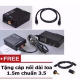 Bộ chuyển đổi từ tín hiệu tivi 4K Quang sang AV+ tặng Cáp nối dài dây Loa 1.5m