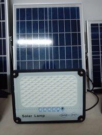 Bộ đèn pha năng lượng mặt trời 50W-100W-200W-300W -Thân nhôm Có chế độ bật tắt tự động IP67 chống nước  có đèn báo pin bảo hành 1 năm [bonus]