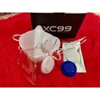 Bộ đôi Khẩu trang nhựa CX99 TPU thời trang CHỊ EM CHÚNG MÌNH trắng và trong suốt