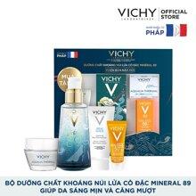 Bộ dưỡng Chất (Serum) Khoáng núi lửa cô đặc Vichy Mineral 89 Giúp Da Sáng Mịn Và Căng Mượt [bonus]